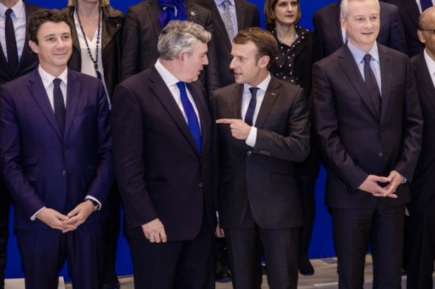 gordon brown, emmanuel macron