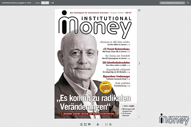 Institutional Money Cover 4/2018